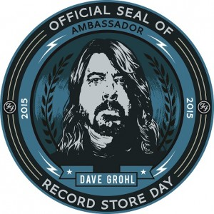 The Official Seal of Dave Grohl Record Store Day Ambassador 2015